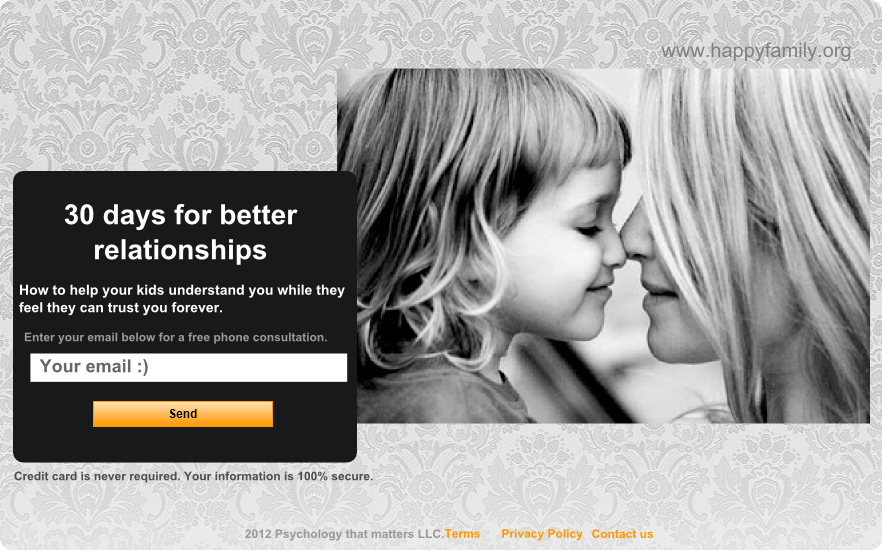 landing page for nonprofit family organization